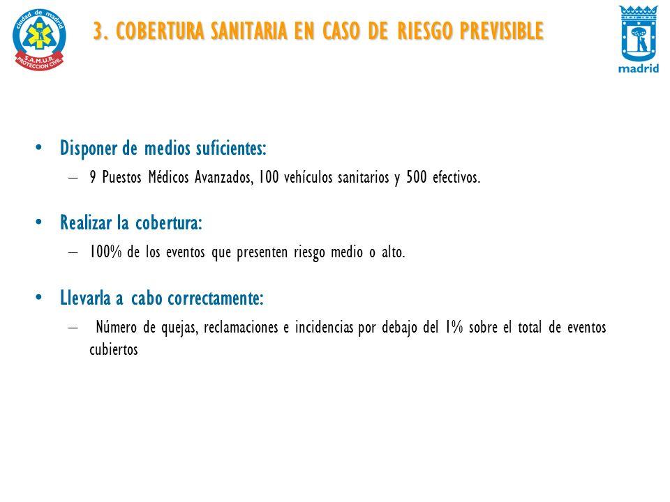3. COBERTURA SANITARIA EN CASO DE RIESGO PREVISIBLE