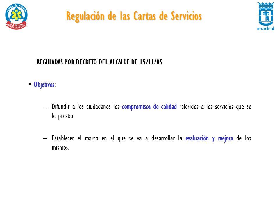 Regulación de las Cartas de Servicios