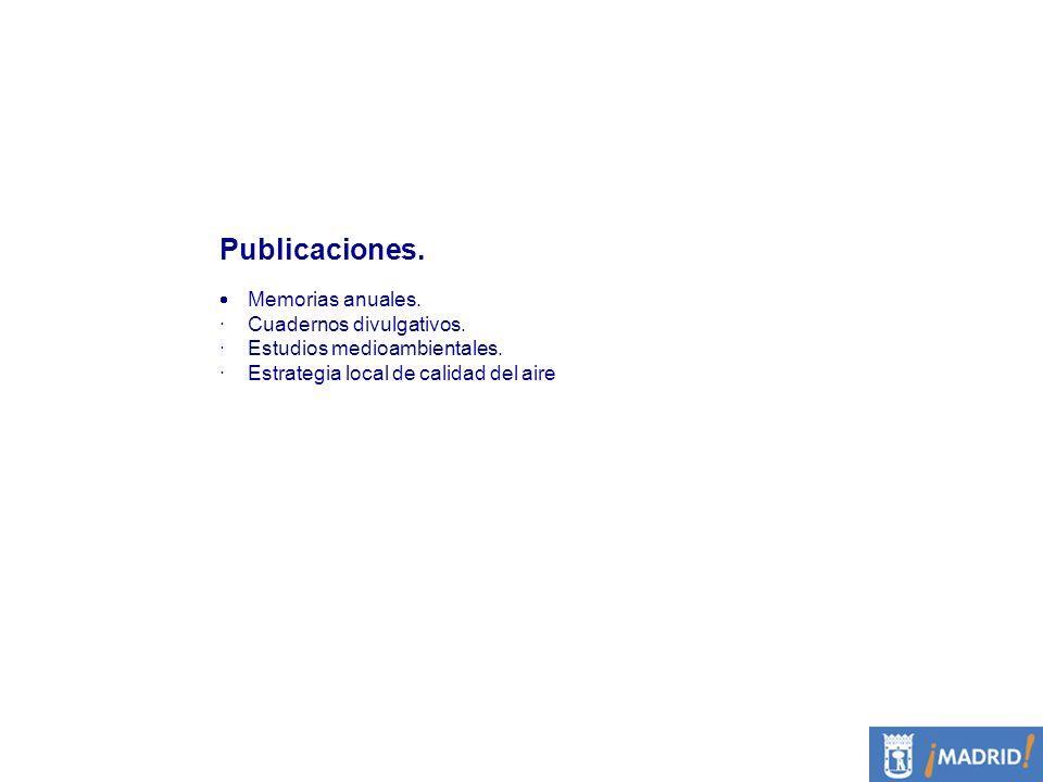 Publicaciones. · Cuadernos divulgativos. · Estudios medioambientales.