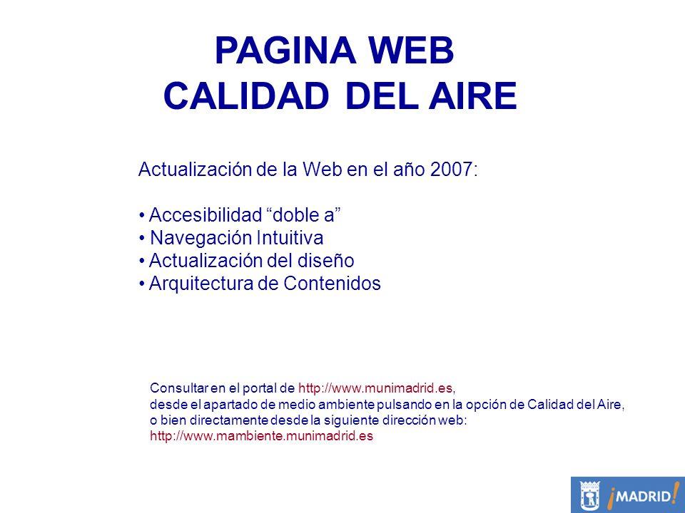 PAGINA WEB CALIDAD DEL AIRE