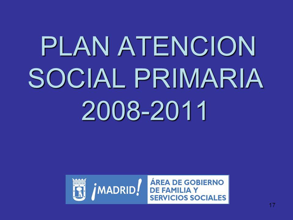 PLAN ATENCION SOCIAL PRIMARIA 2008-2011