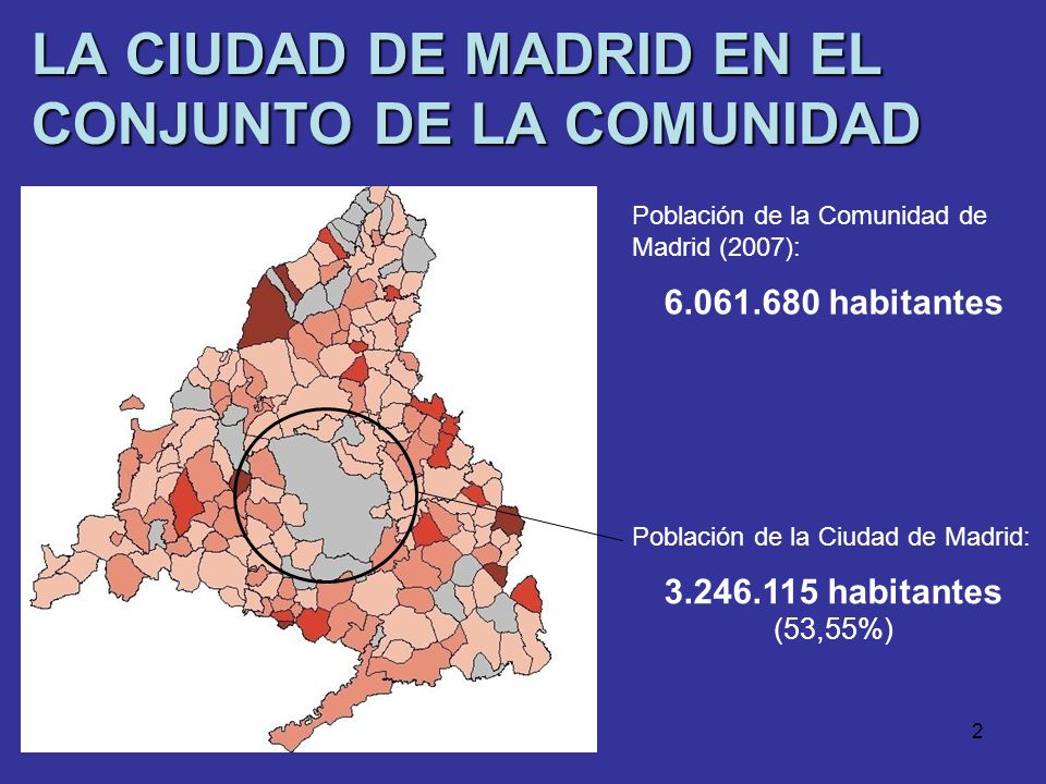 LA CIUDAD DE MADRID EN EL CONJUNTO DE LA COMUNIDAD