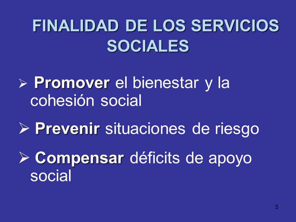 FINALIDAD DE LOS SERVICIOS SOCIALES
