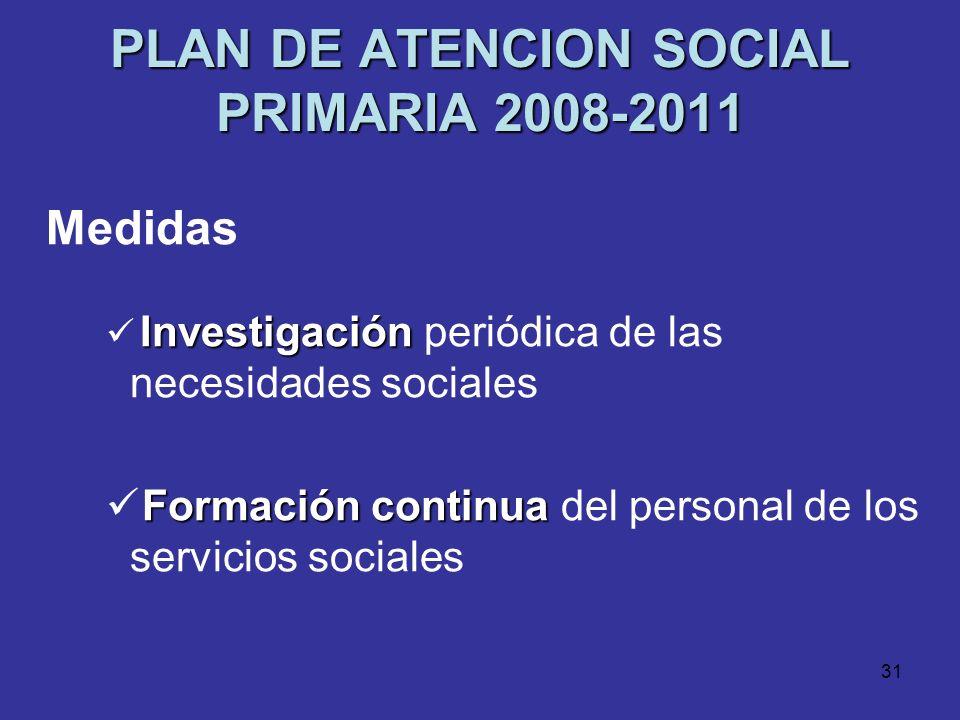 PLAN DE ATENCION SOCIAL PRIMARIA 2008-2011