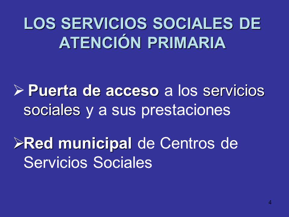 LOS SERVICIOS SOCIALES DE ATENCIÓN PRIMARIA