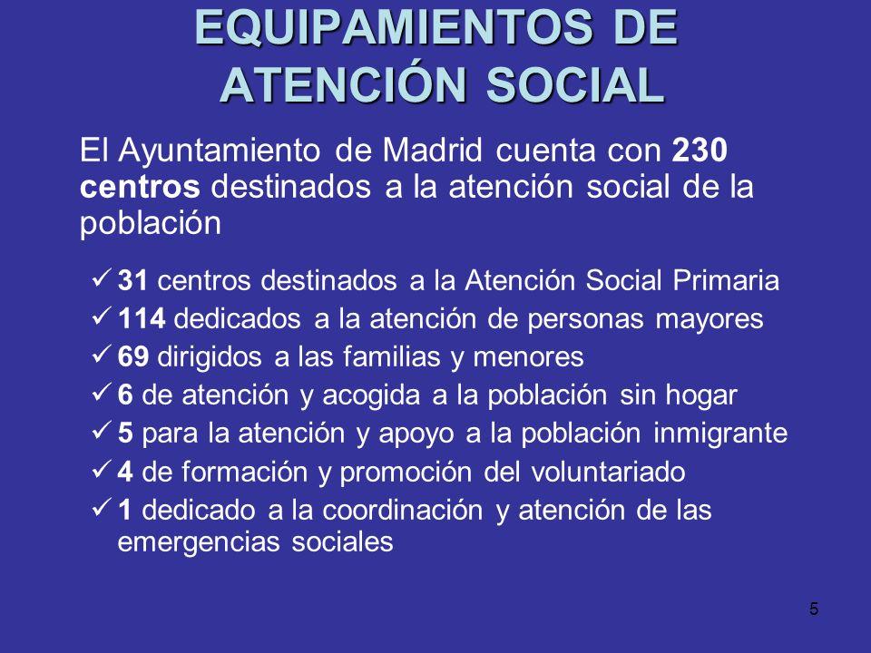 EQUIPAMIENTOS DE ATENCIÓN SOCIAL