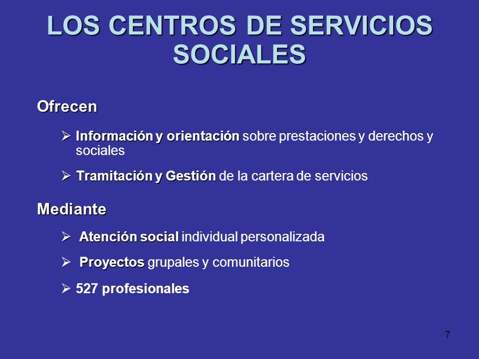 LOS CENTROS DE SERVICIOS SOCIALES
