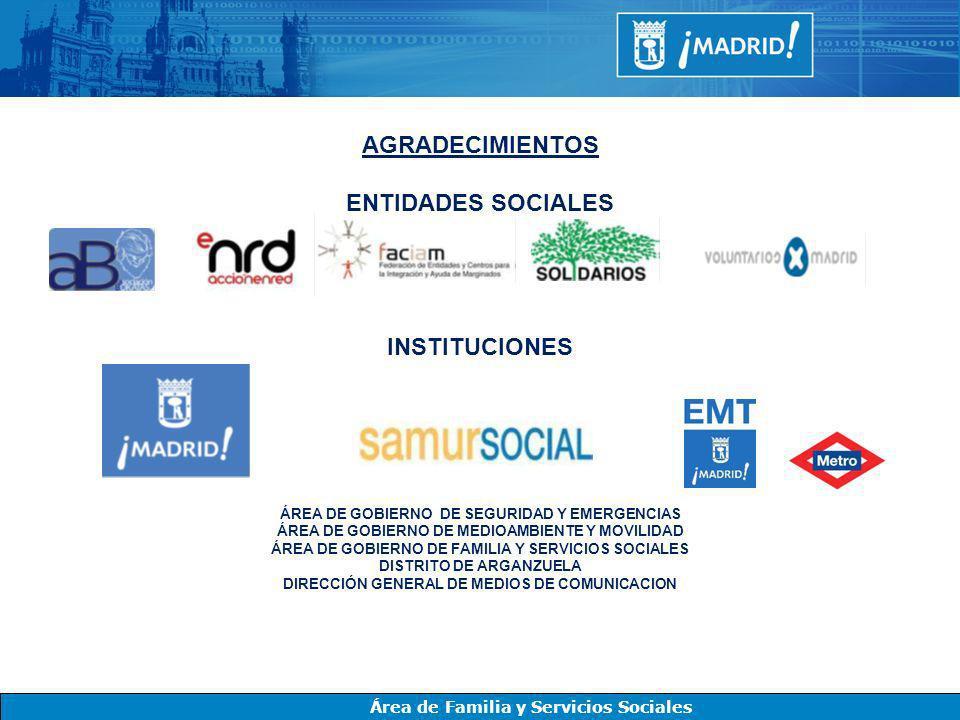 AGRADECIMIENTOS ENTIDADES SOCIALES INSTITUCIONES