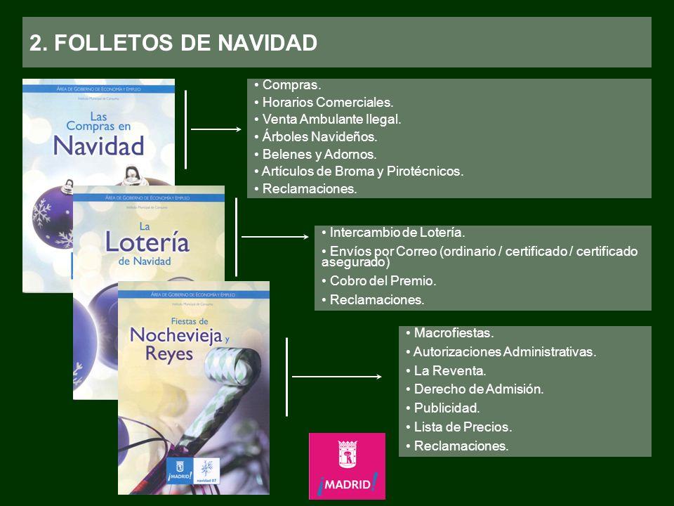 2. FOLLETOS DE NAVIDAD Compras. Horarios Comerciales.