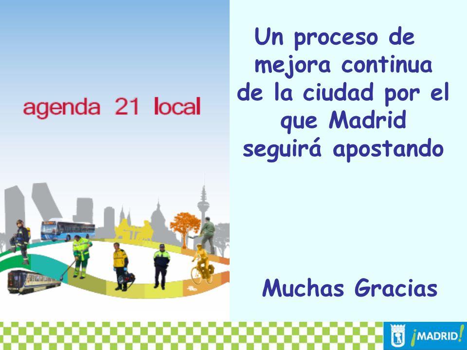 Un proceso de mejora continua de la ciudad por el que Madrid seguirá apostando