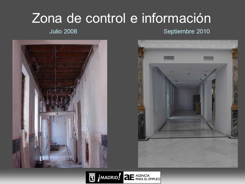 Zona de control e información