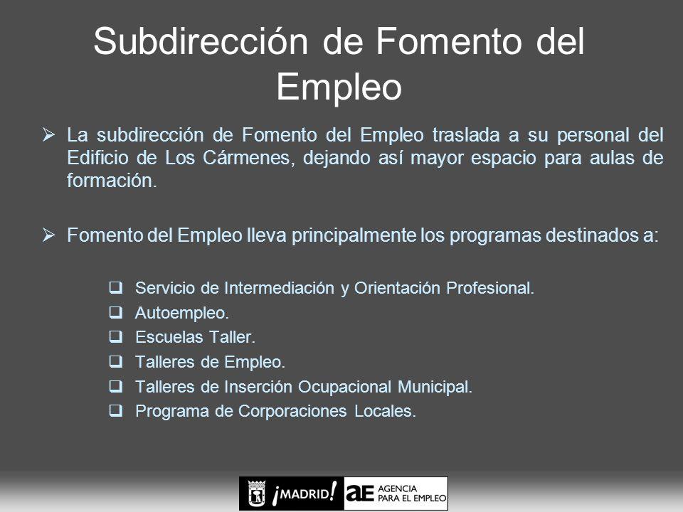 Subdirección de Fomento del Empleo