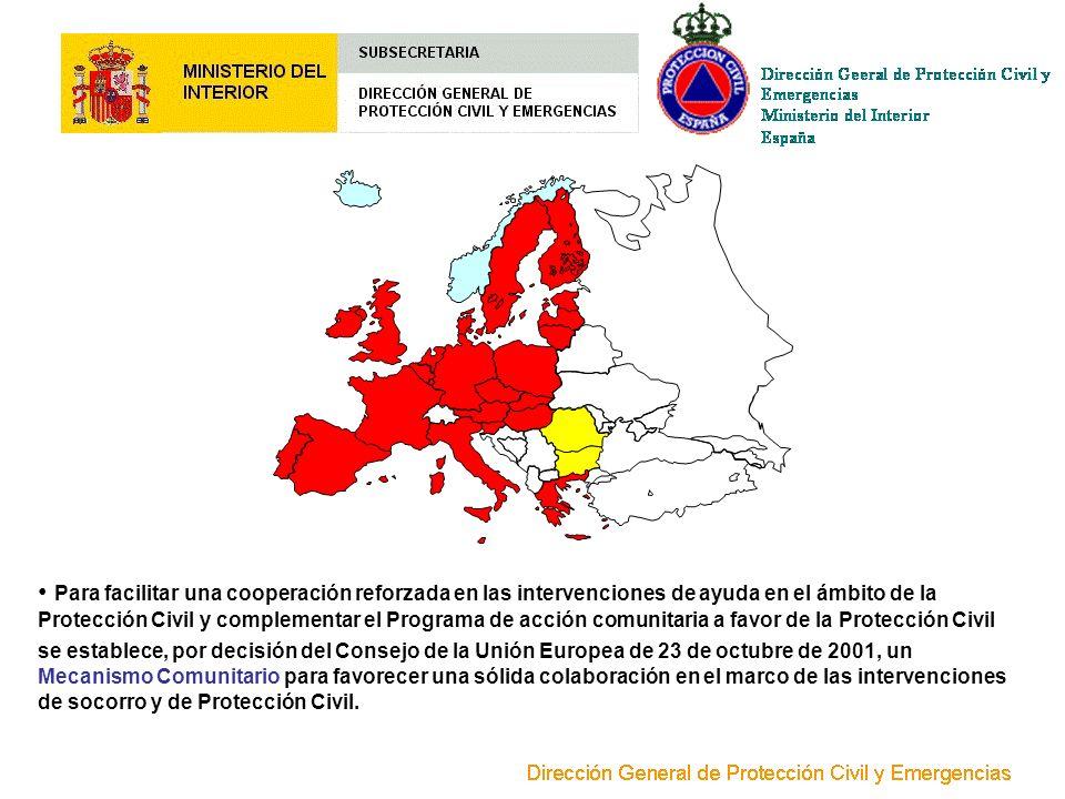 Para facilitar una cooperación reforzada en las intervenciones de ayuda en el ámbito de la Protección Civil y complementar el Programa de acción comunitaria a favor de la Protección Civil