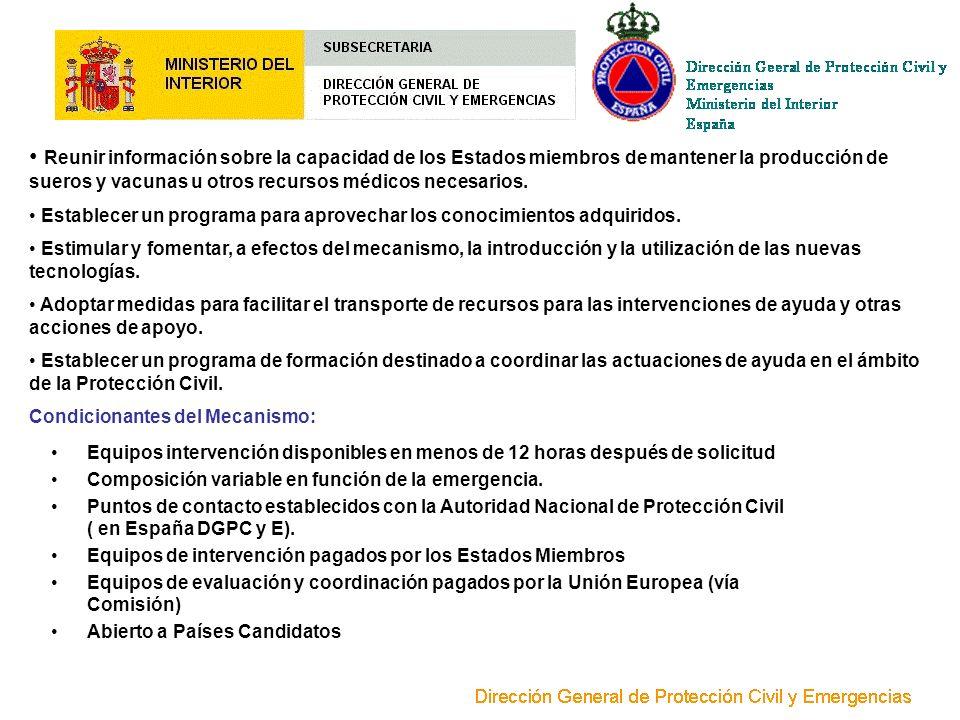 Reunir información sobre la capacidad de los Estados miembros de mantener la producción de sueros y vacunas u otros recursos médicos necesarios.