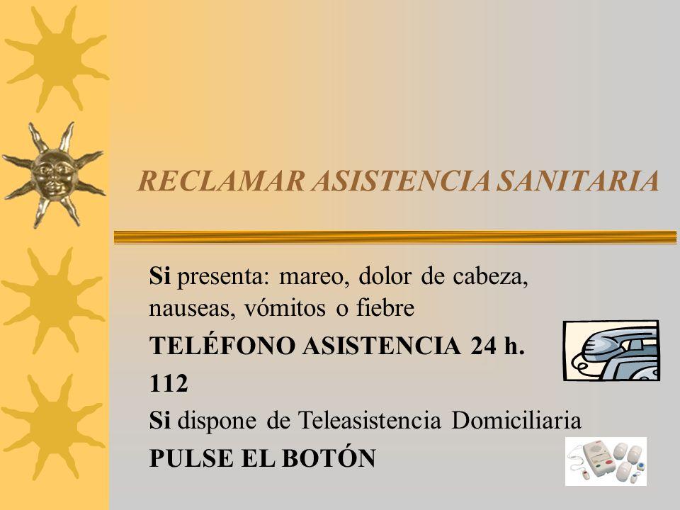 RECLAMAR ASISTENCIA SANITARIA