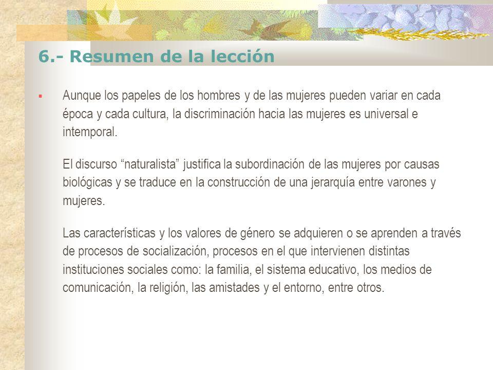 6.- Resumen de la lección