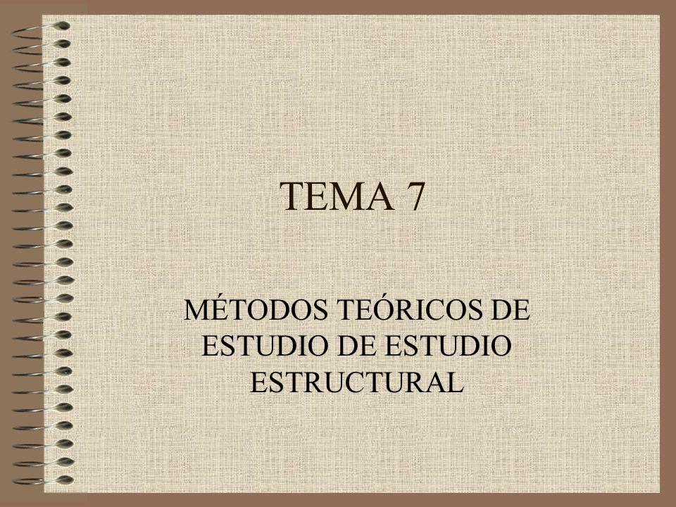 MÉTODOS TEÓRICOS DE ESTUDIO DE ESTUDIO ESTRUCTURAL