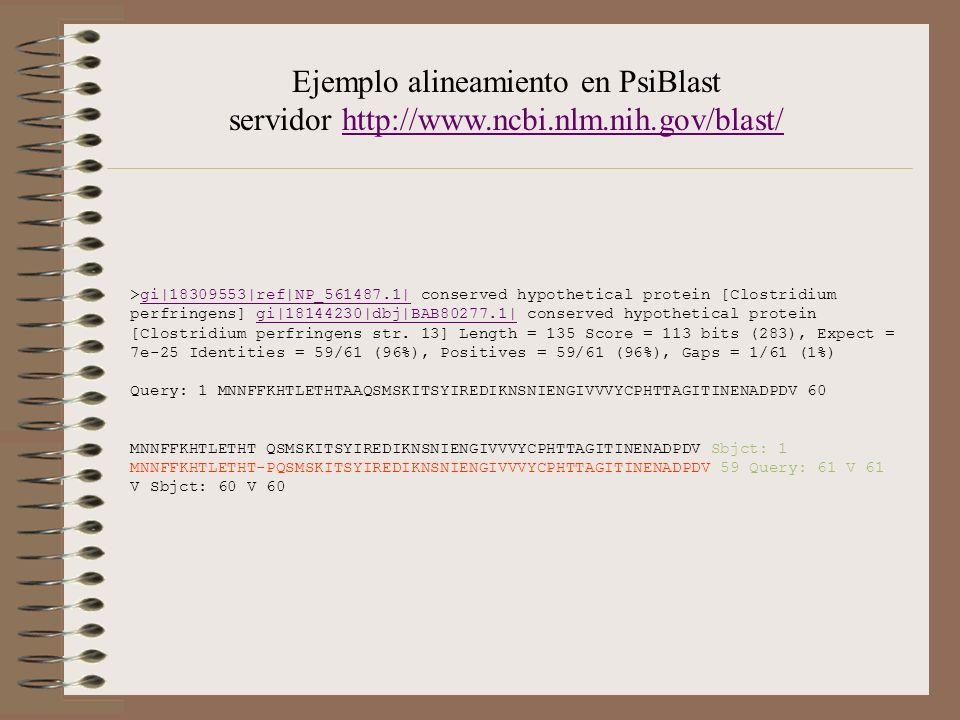 Ejemplo alineamiento en PsiBlast