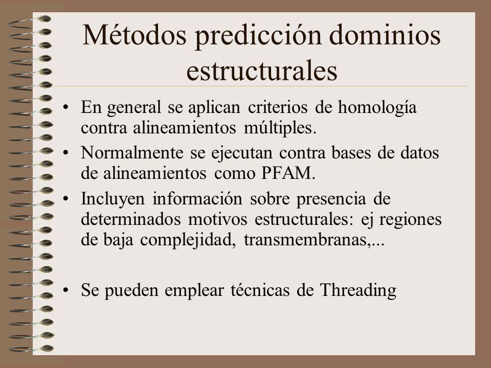 Métodos predicción dominios estructurales