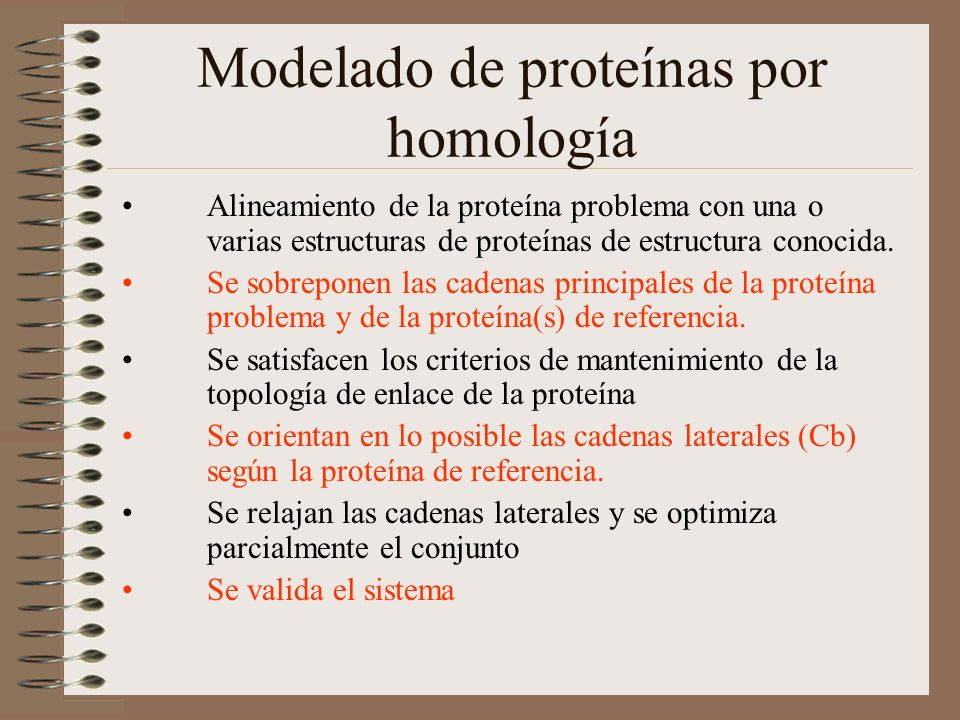 Modelado de proteínas por homología