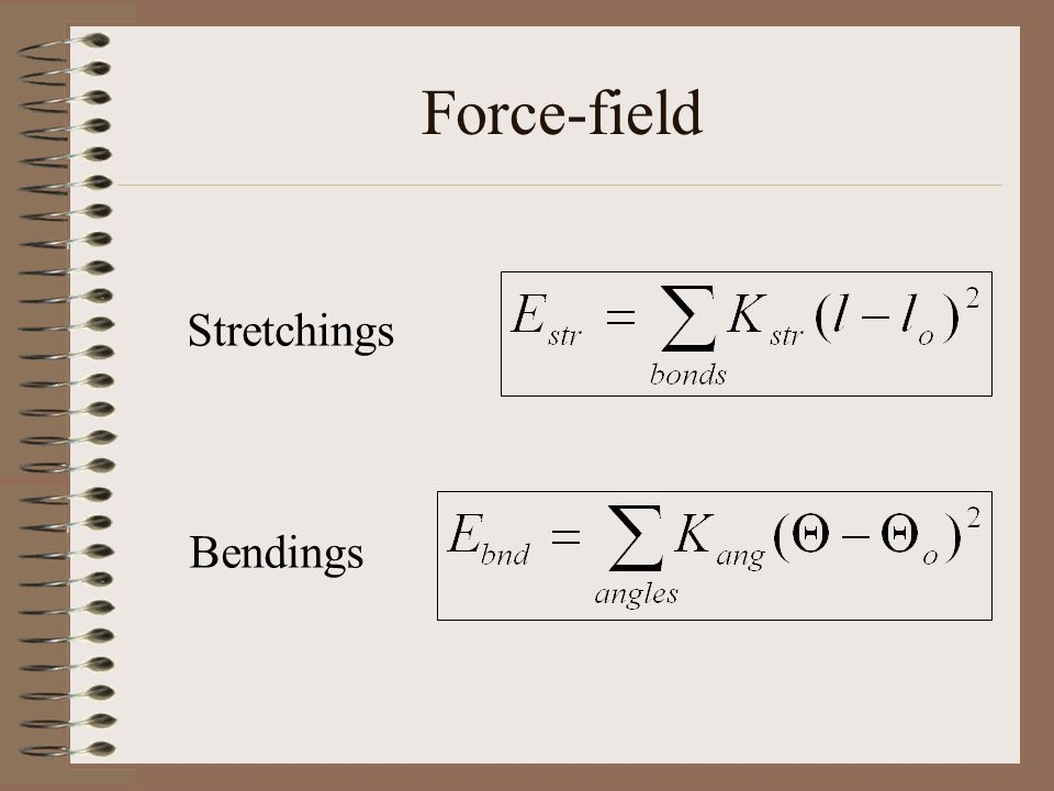 Force-field Stretchings Bendings