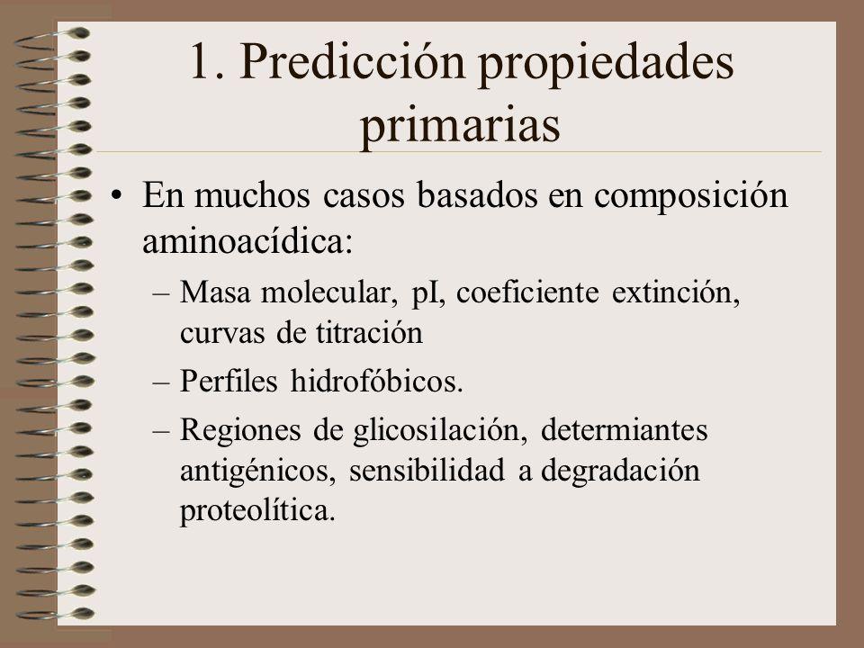 1. Predicción propiedades primarias