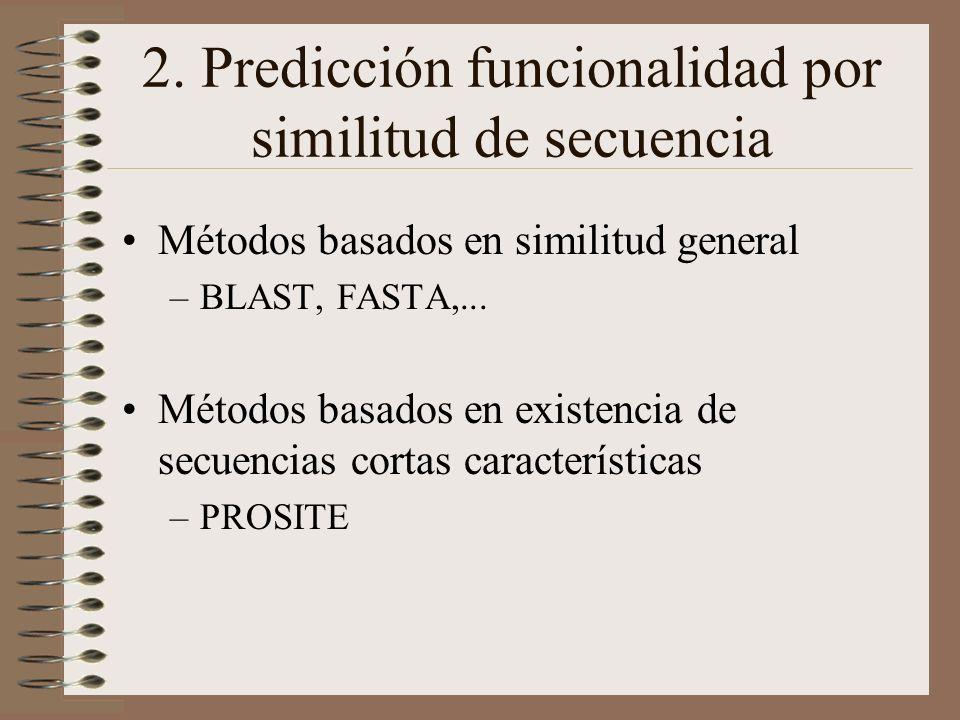 2. Predicción funcionalidad por similitud de secuencia