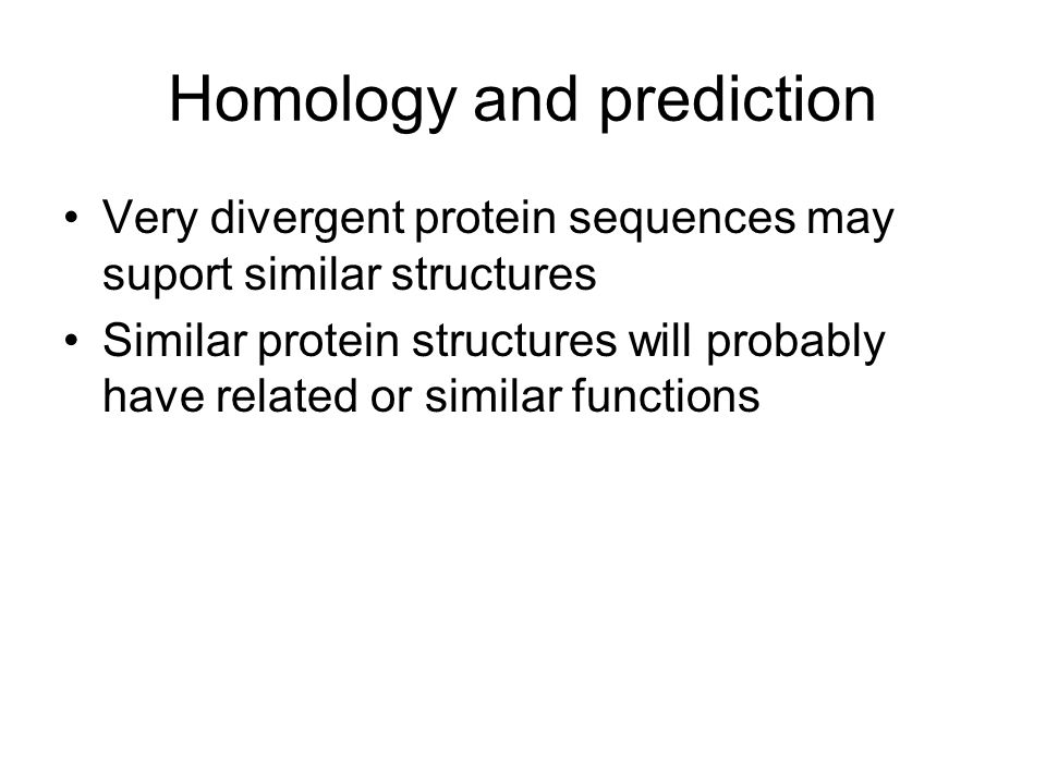 Homology and prediction