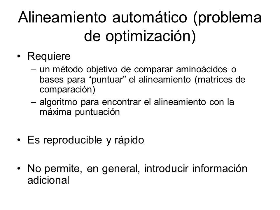 Alineamiento automático (problema de optimización)
