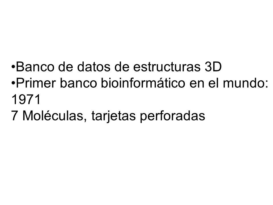 Banco de datos de estructuras 3D