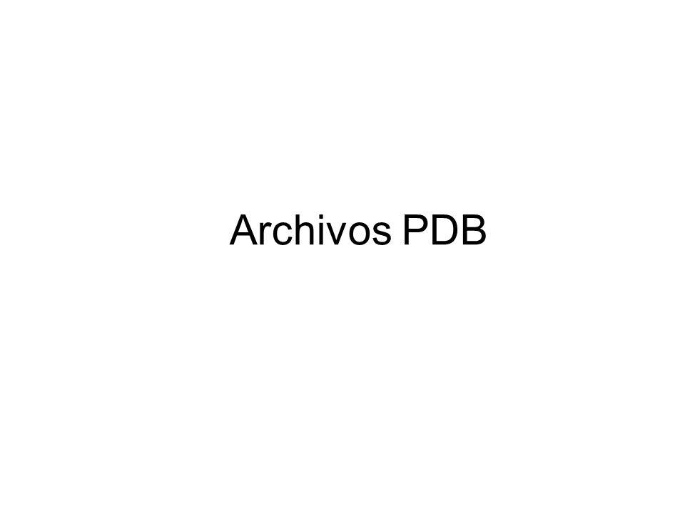 Archivos PDB
