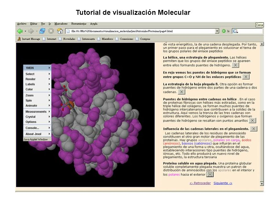 Tutorial de visualización Molecular