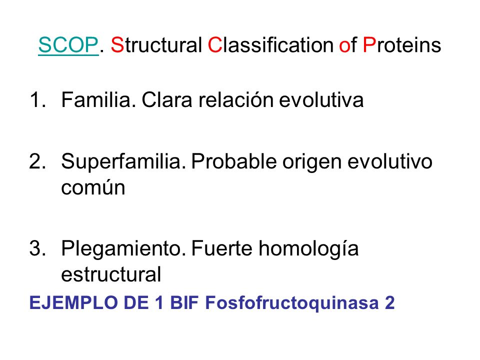 SCOP. Structural Classification of Proteins