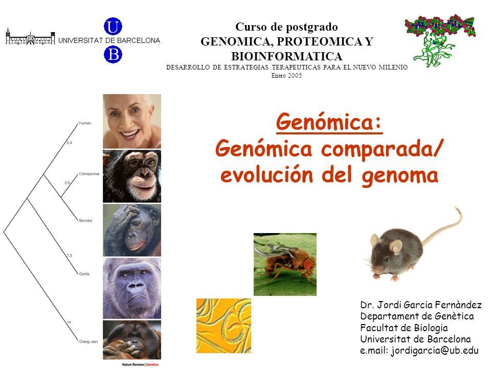 GENOMICA, PROTEOMICA Y BIOINFORMATICA