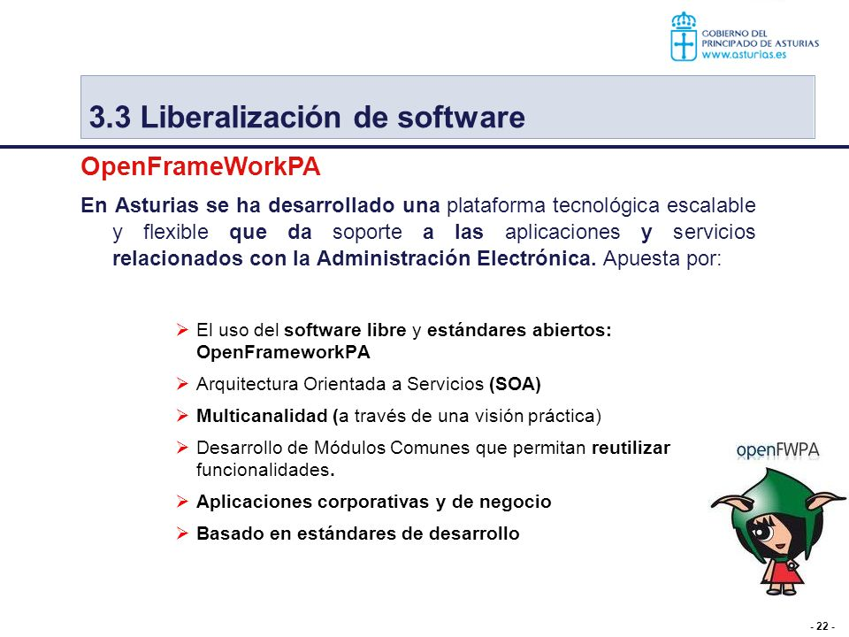 3.3 Liberalización de software