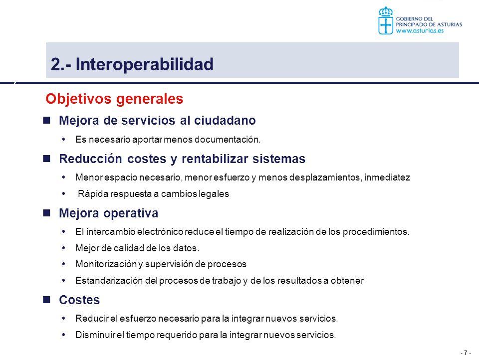 2.- Interoperabilidad Objetivos generales