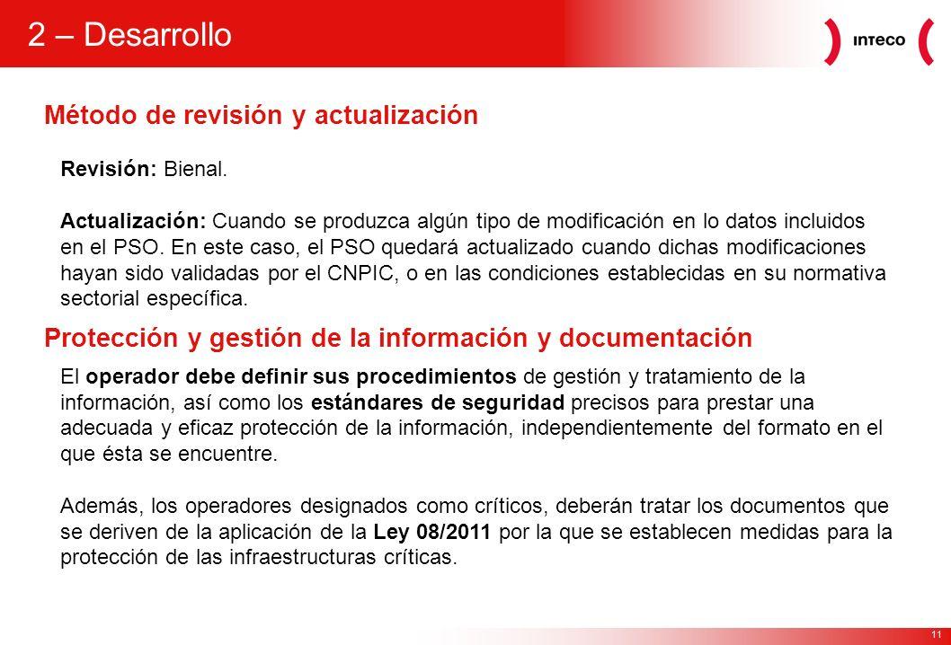 2 – Desarrollo Método de revisión y actualización