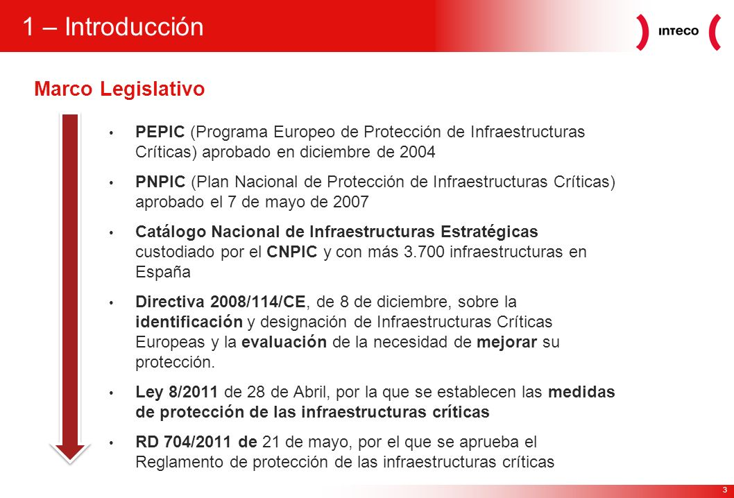 1 – Introducción Marco Legislativo
