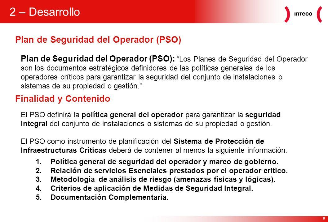 2 – Desarrollo Plan de Seguridad del Operador (PSO)