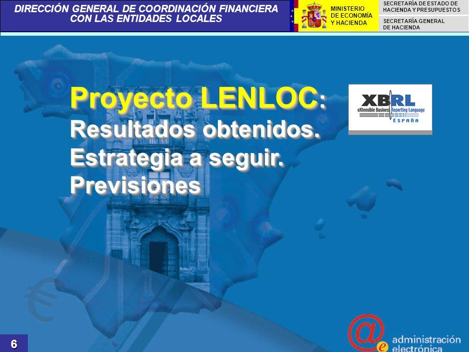 Proyecto LENLOC: Resultados obtenidos. Estrategia a seguir. Previsiones