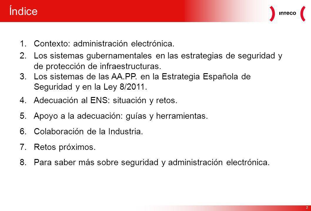 Índice Contexto: administración electrónica.