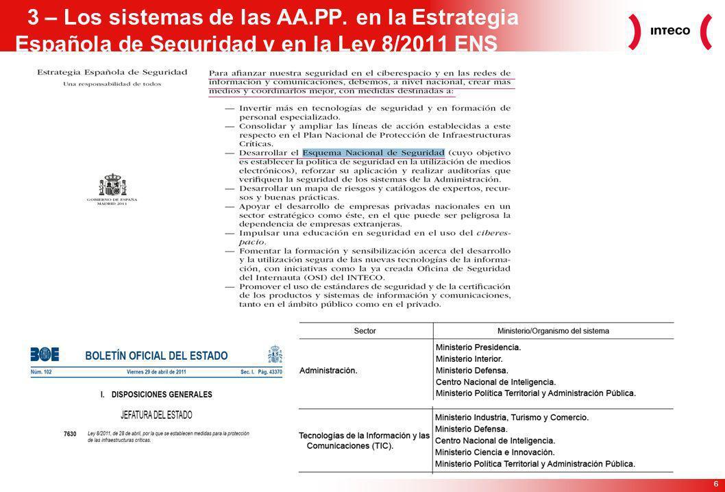 3 – Los sistemas de las AA. PP