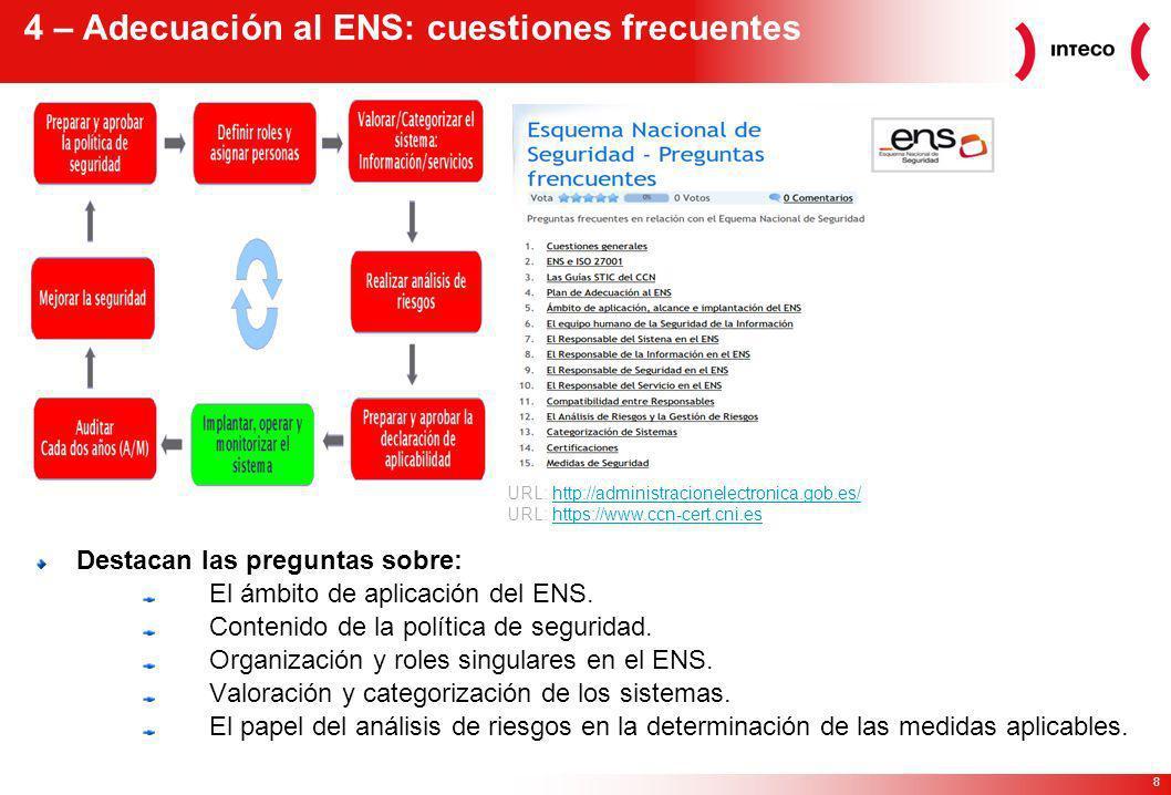 4 – Adecuación al ENS: cuestiones frecuentes