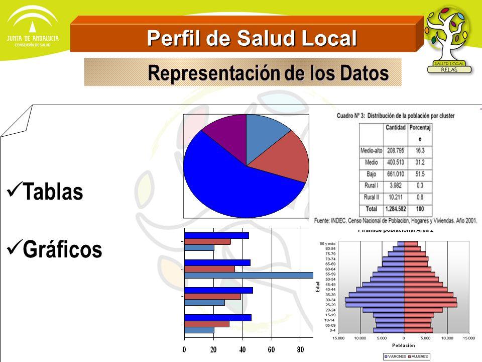 Perfil de Salud Local Representación de los Datos Tablas Gráficos