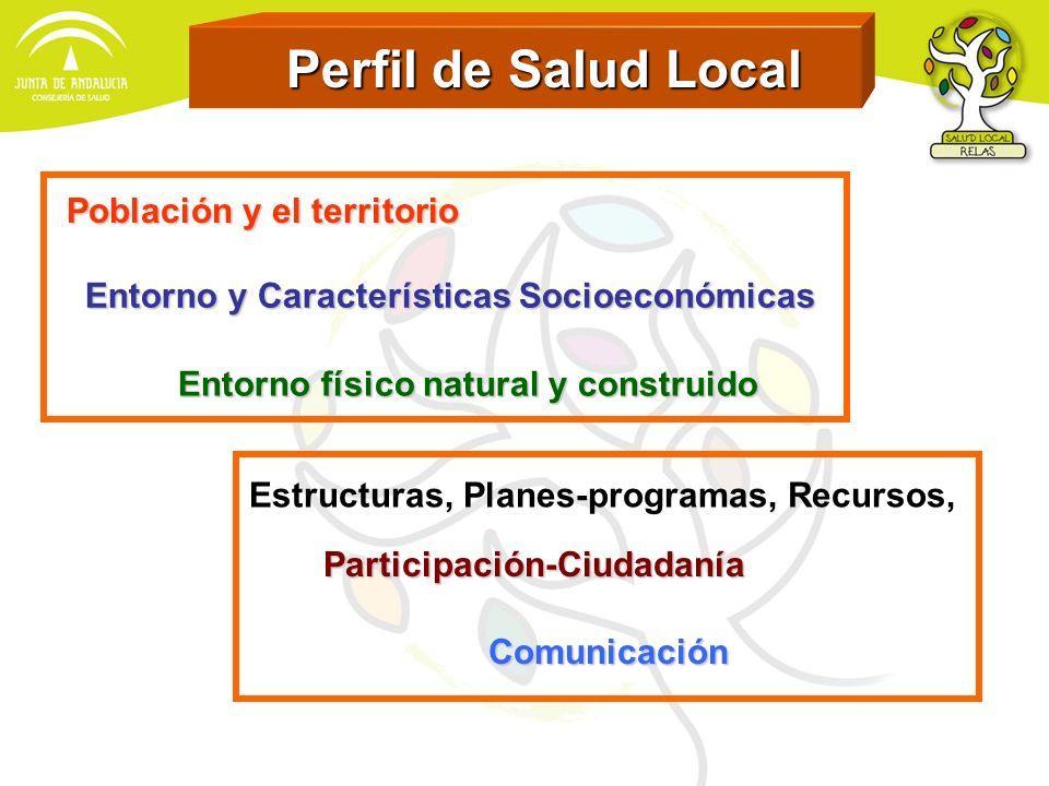 Perfil de Salud Local Población y el territorio