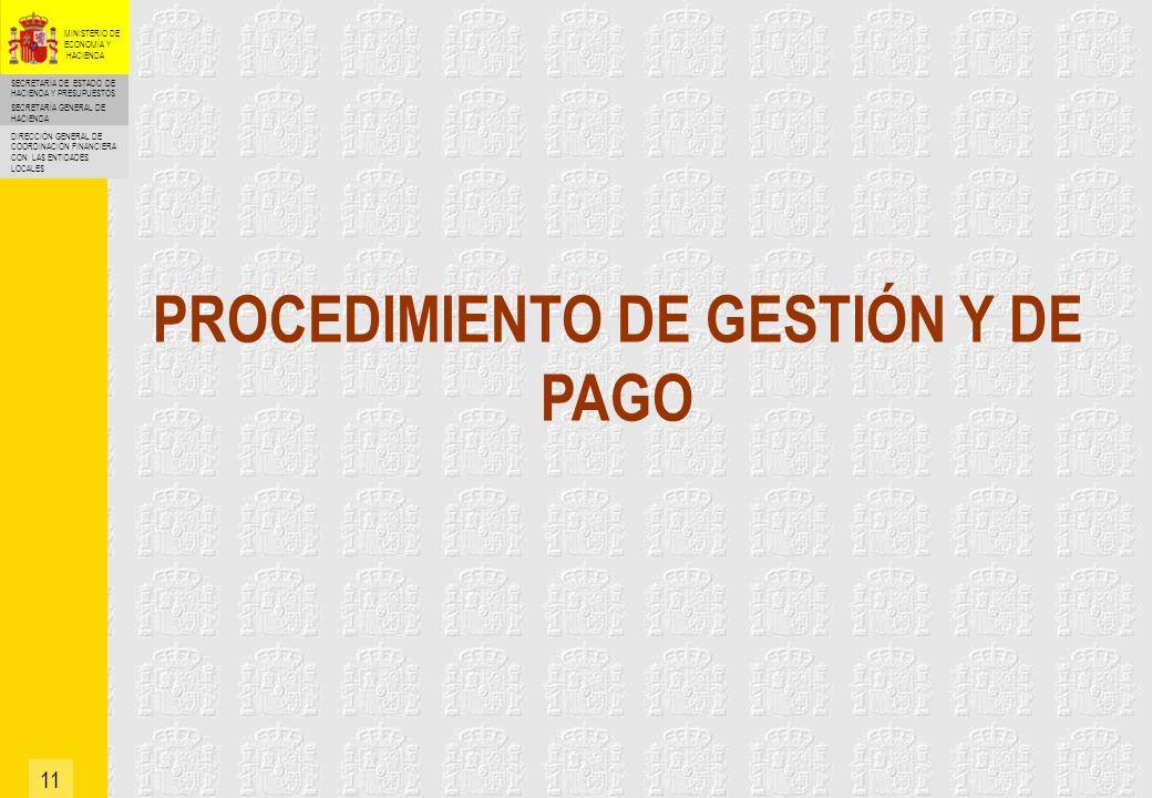 PROCEDIMIENTO DE GESTIÓN Y DE PAGO