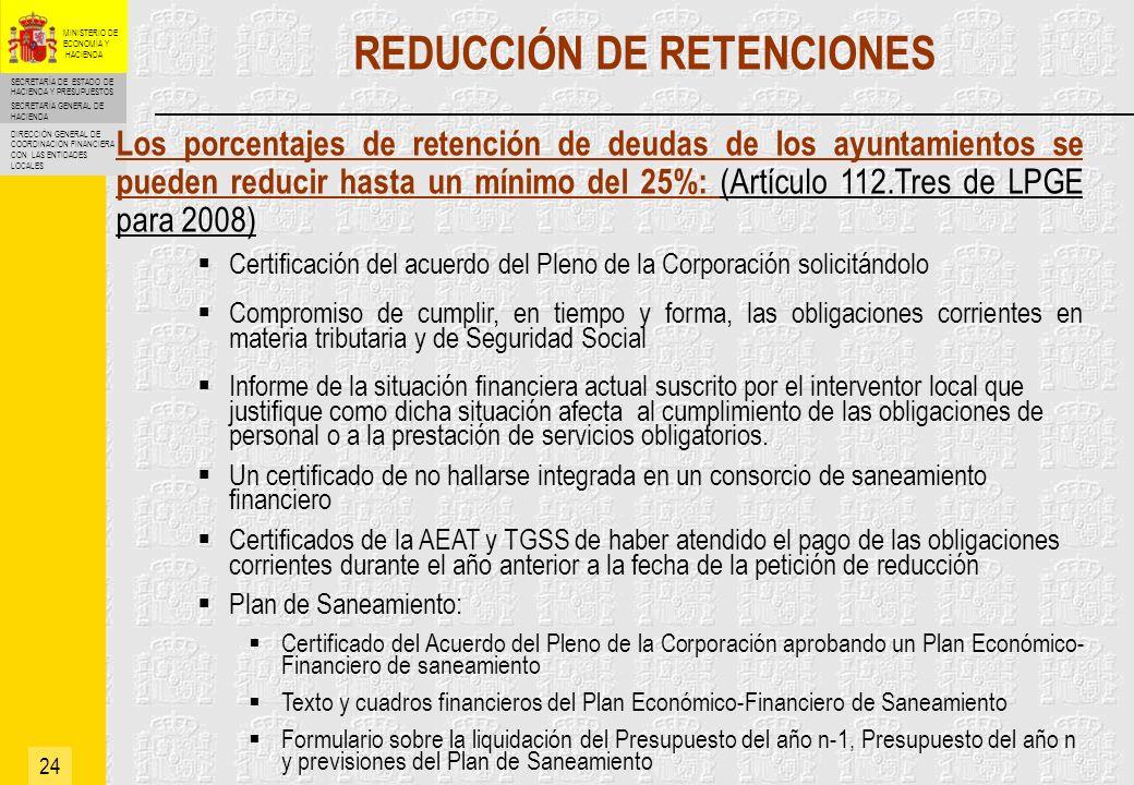 REDUCCIÓN DE RETENCIONES