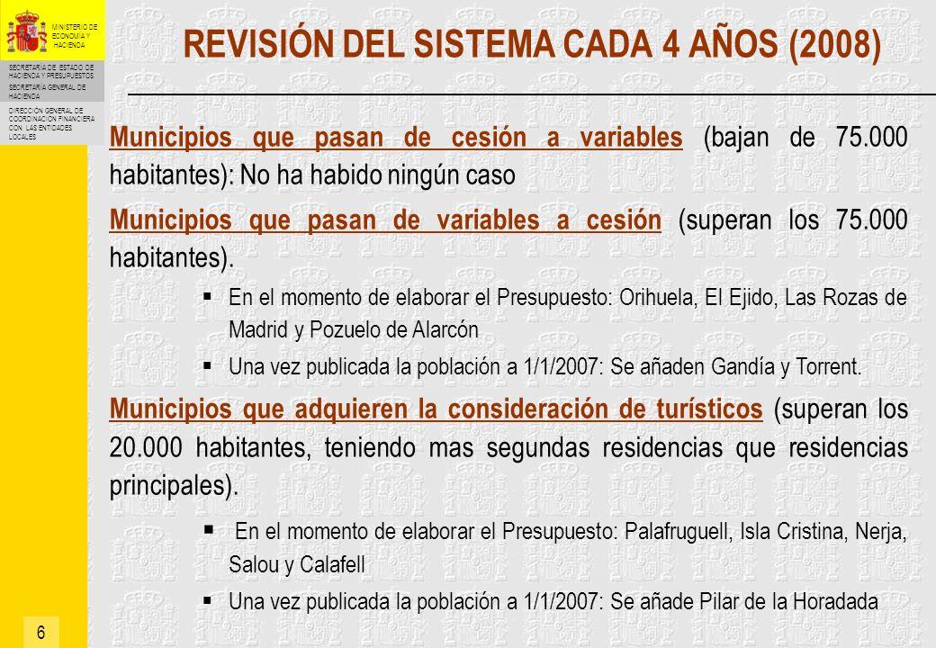 REVISIÓN DEL SISTEMA CADA 4 AÑOS (2008)
