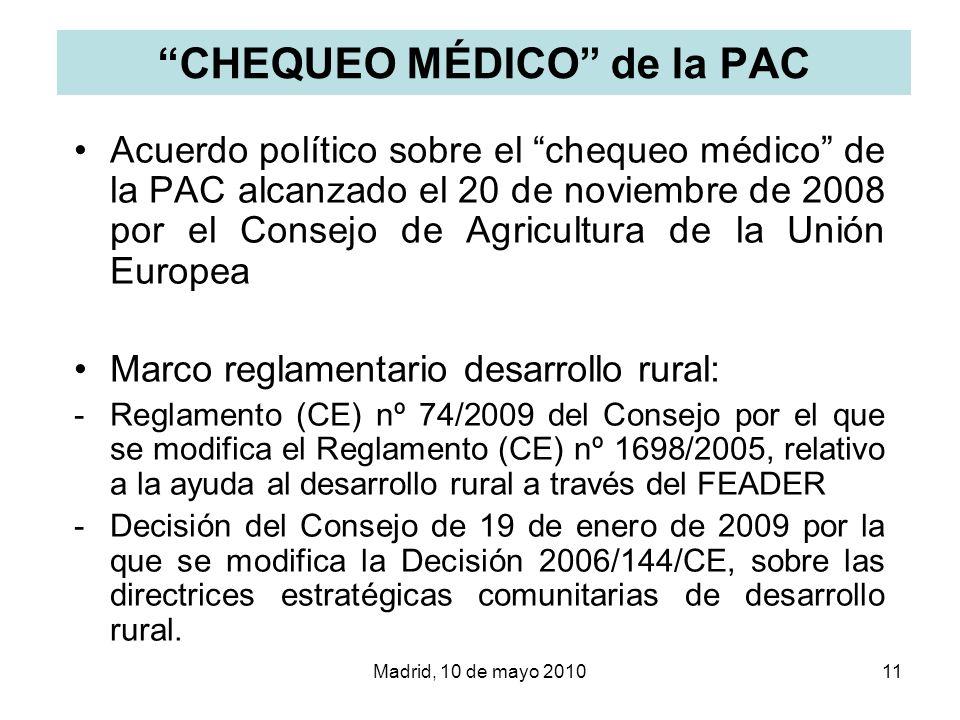 CHEQUEO MÉDICO de la PAC
