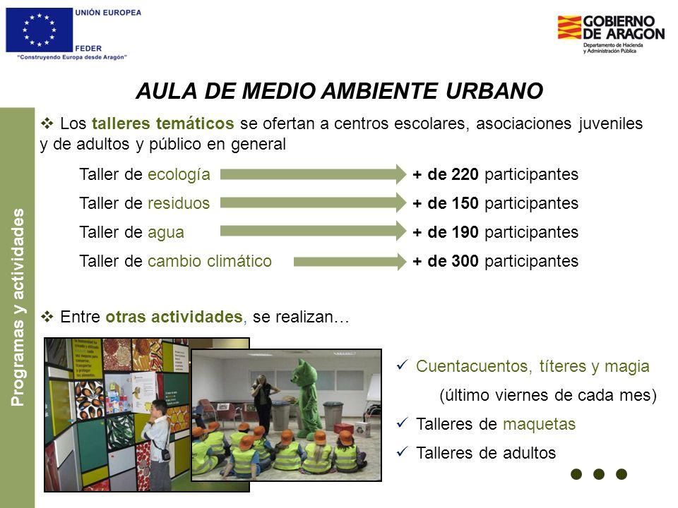 AULA DE MEDIO AMBIENTE URBANO Programas y actividades